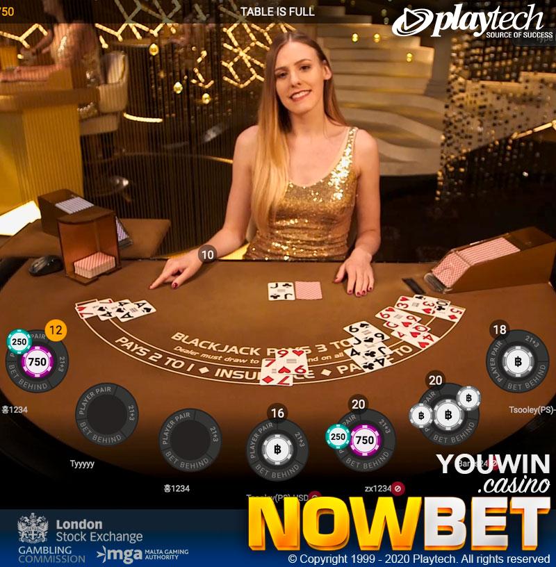 Royale Blackjack ทั้ง 5 โต๊ะมีขั้นต่ำ-ขั้นสูง 3 ช่วง