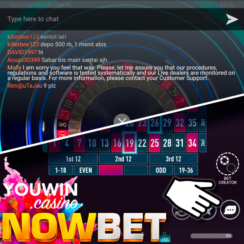 คลิ๊กเพื่อเล่น Quantum Roulette ขั้นต่ำ 10 บาท ที่ NOWBET