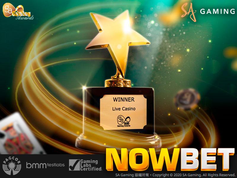 ประวัติ ความสำเร็จ ของ SA Gaming - Live Casino of the Year 2020