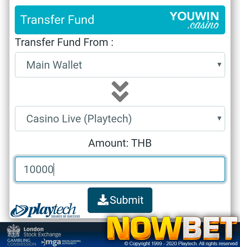 Transfer the Amount of Money Which Suits You the Most but always Play Responsibly