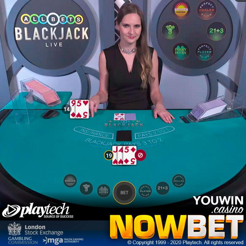 All Bets Blackjack แบล็คแจ็คไลฟ์ที่มี Side Bets มากที่สุด