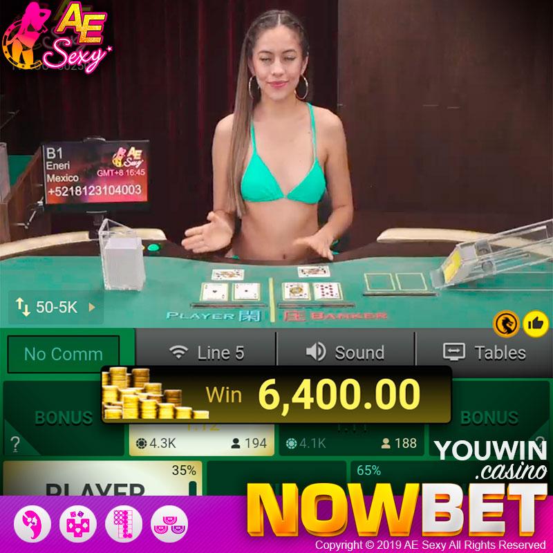 สูตร YOUWIN Sexy Gaming  ชนะ 6,400 บาท